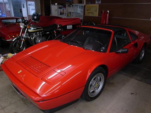 本日はフェラーリ328GTSの車検に行って来ました。