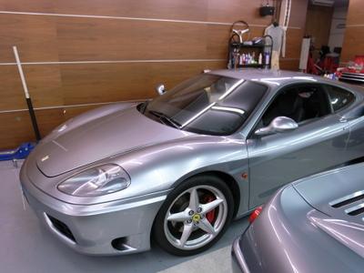 フェラーリF360モデナの内装のベタベタ修理