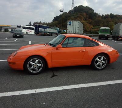 秋田 ポルシェ993ガルフオレンジ納車の旅